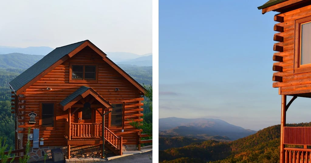 You will be hard-pressed to find better views, and better deals in the Smokies than with this 2-bedroom Mountainscape (photos courtesy of Mountainscape/VRBO)