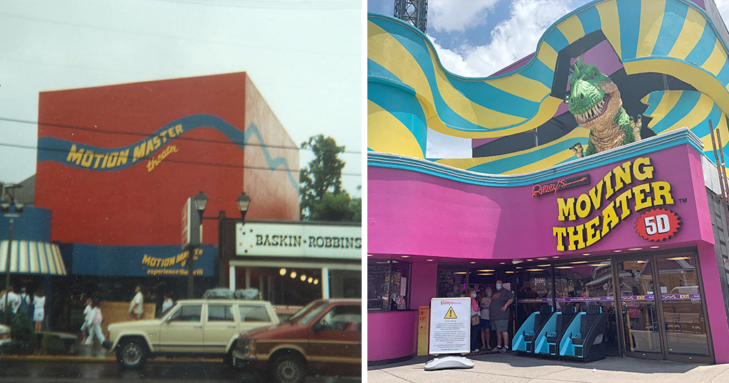 Moving Theater Gatlinburg, then and now