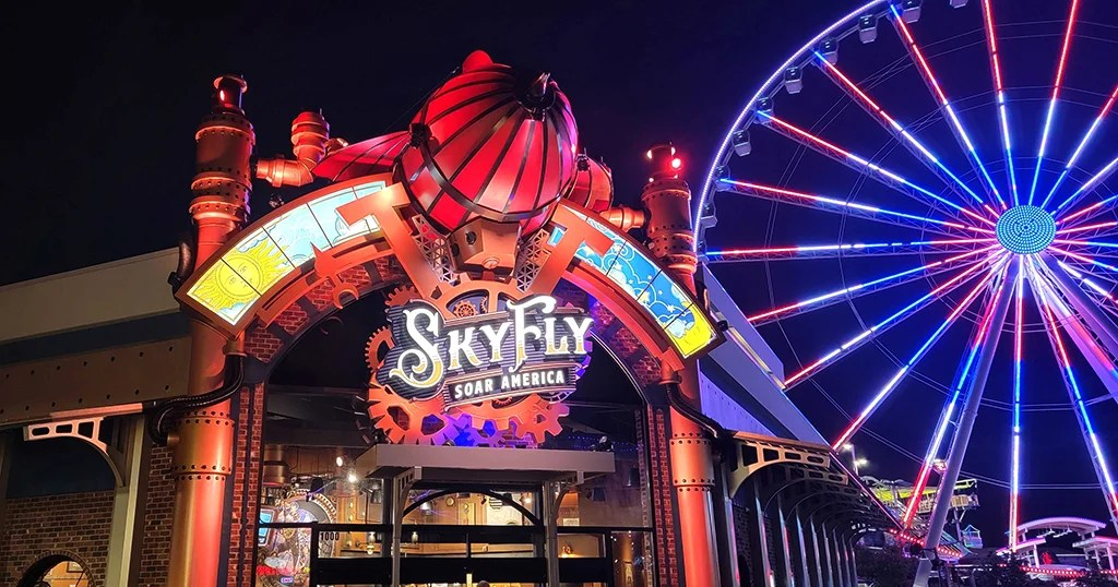 SkyFly in Pigeon Forge