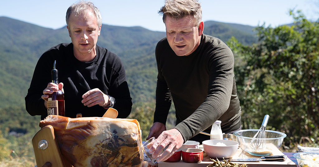 William Dissen and Gordon Ramsay in the Great Smoky Mountains