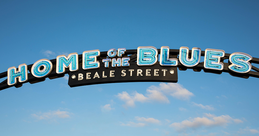 Home of the Blues on Beale Street sign