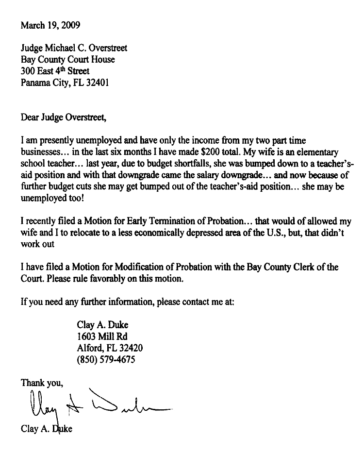 Recommendation letter for early termination of probation yeni recommendation spiritdancerdesigns Gallery