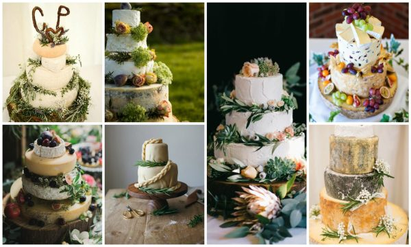 Cheese Wedding Cakes Collage