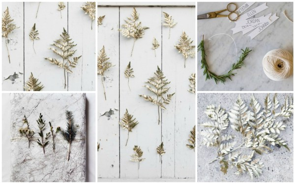 Gold Sprig Backdrop Collage