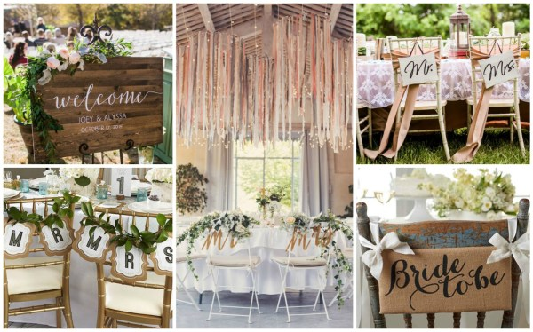 Mr. & Mrs. Wedding Banner Collage