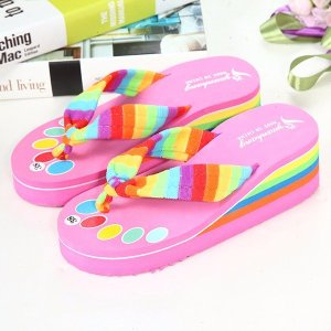 564cb7d682d93 Rainbow Outdoor Beach Slippers Online ...