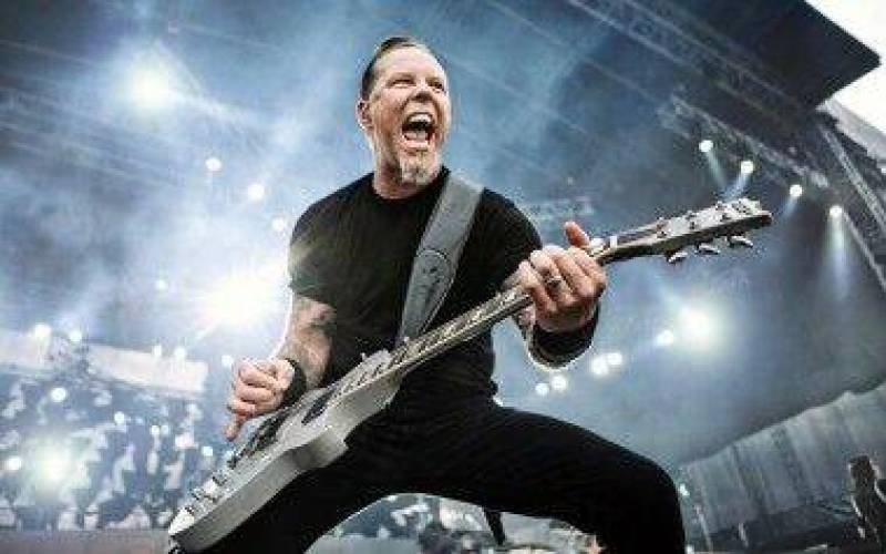 Metallica's James Hetfield in concert.