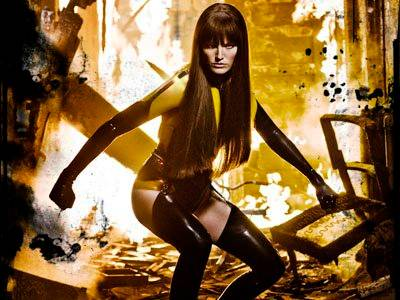 Malin Akerman in Watchmen (2009).