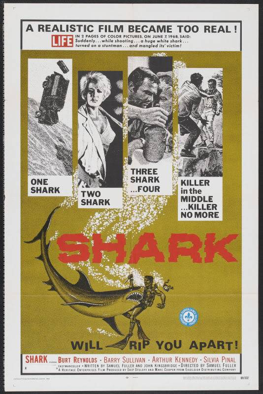 Poster for the movie Shark (1969).