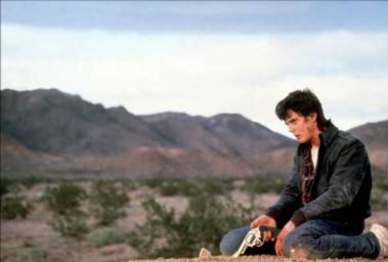 C. Thomas Howell in The Hitcher movie image