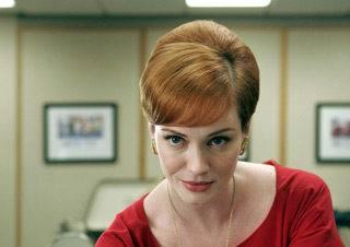 Christina Hendricks as Joan Holloway on AMC's Mad Men