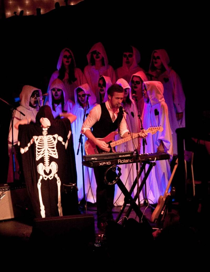 concert photo - Ryan Gosling with Dead Man's Bones