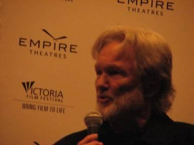 Kris Kristofferson at the 16th annual Victoria Film Festival