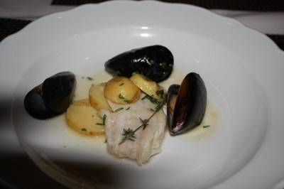 Mussels with snapper at Coast.