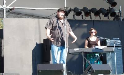 Shane Koyczan at the Vancouver Folk Music Festival, July 16 2010. Megan Chursinoff photo