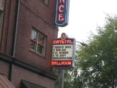 The Crystal Ballroom, Portland, Oct 8 2010.