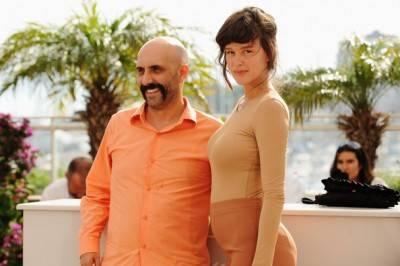 Gaspar Noe and Paz de la Huerta at Cannes.