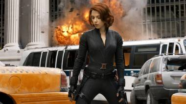 Scarlett Johansson as Black Widow in The Avengers movie image