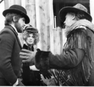 Warren Beattie, Julie Christie and Robert Altman on the set of McCabe & Mrs. Miller (1971).