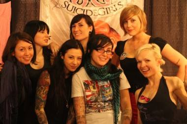 Suicide Girls booth at Taboo