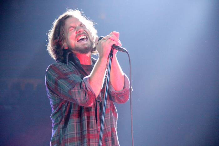 Eddie Vedder with Pearl Jam at GM Place, Vancouver, Sept 25 2009. Jessica Bardosh photo