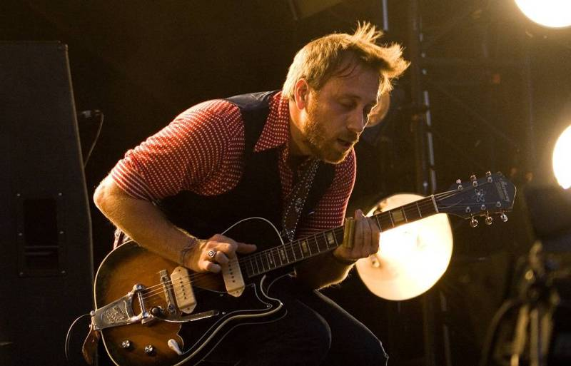 Dan Auerbach with the Black Keys at Deer Lake Park, Burnaby, June 27 2011. Jason Statler photo