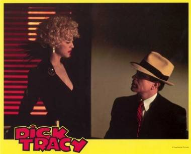 Madonna and Warren Beatty in Dick Tracy (1990).