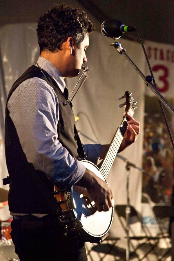 Elliott Brood at the Vancouver Folk Music Festival, Julyi 16 2011. Dasha Lushnikova photo