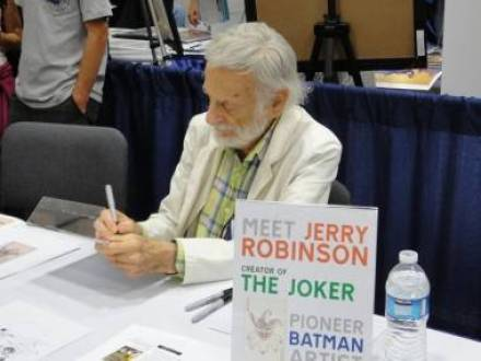 Jerry Robinson, creator of the Joker, at the 2011 San Diego Comic-Con July 22 2011.