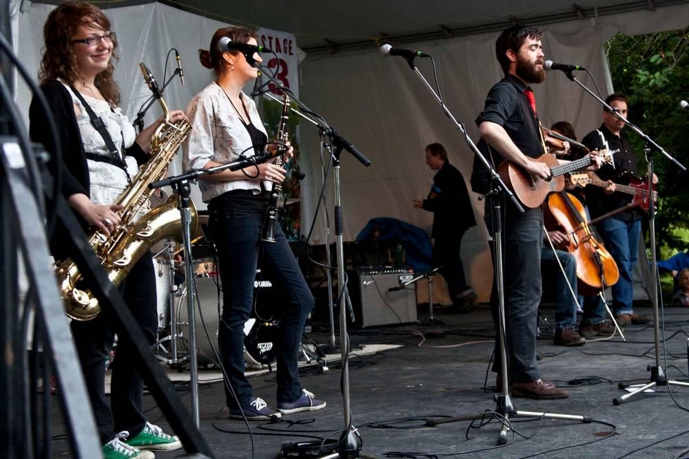 The Burning Hell at the Vancouver Folk Music Festival, Julyi 16 2011. Dasha Lushnikova photo