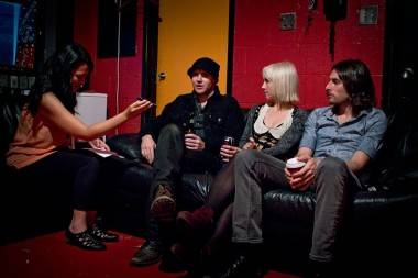 Ria Nevada interviews The Joy Formidable at the Rickshaw Theatre, Vancouver, Sept 7 2011. Ryan West photo