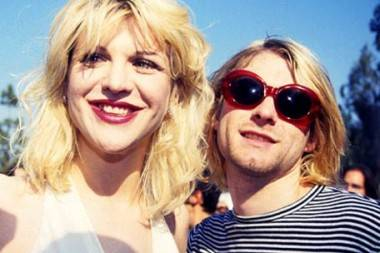 Courtney Love and Kurt Cobain.