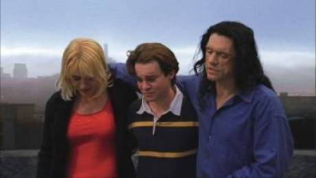Movie still from Tommy Wiseau's The Room