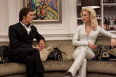 Kevin Bacon and January Jones X-Men First Class movie image