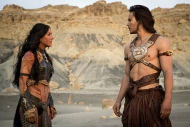 Lynn Collins and Taylor Kitsch in John Carter movie image