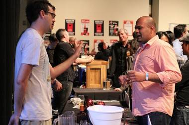 men talking beer at Vancouver Craft Beer Week photo