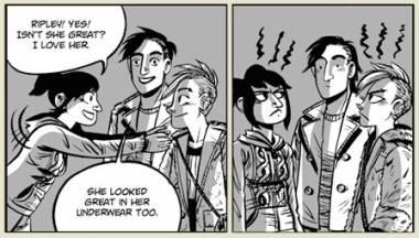 Faith Erin Hicks art from Friends With Boys graphic novel