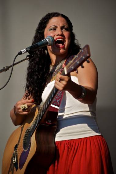 Emel Mathlouthi at Vancouver Folk Music Festival 2012