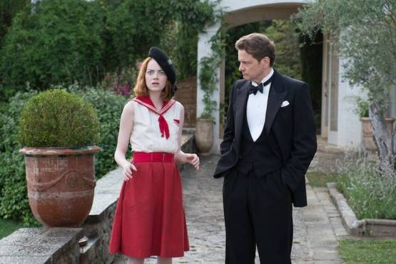 Emma Stone and Colin Firth in Magic in the Moonlight.