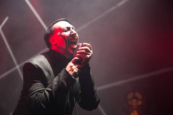 Marilyn Manson at the Queen Elizabeth Theatre, Vancouver, Mar. 29 2015. Kirk Chantraine photo.