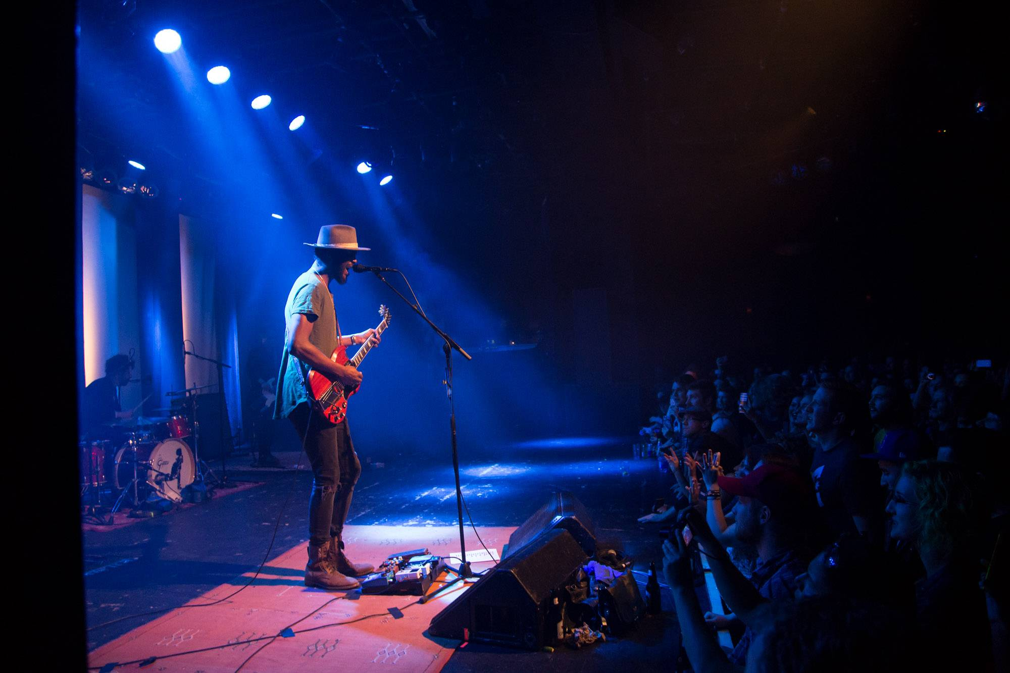 Gary Clark Jr. at the Commodore Ballroom, Vancouver, Apr. 12 2016. Kirk Chantraine photo.