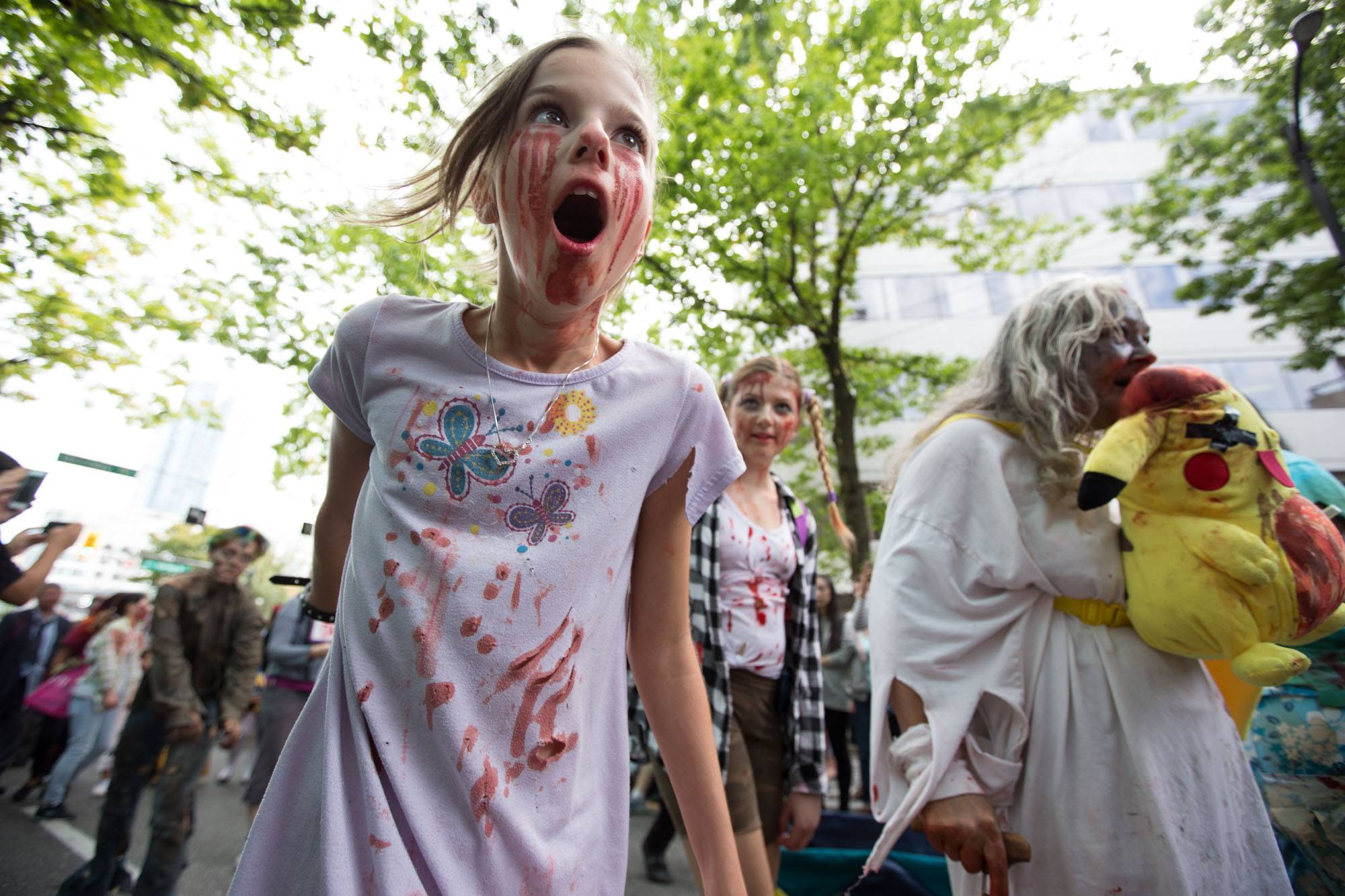 2016 Vancouver Zombie Walk, Sept. 10 2016. Kirk Chantraine photo.