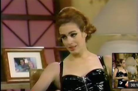 Sean Young as Catwoman on the Joan Rivers show