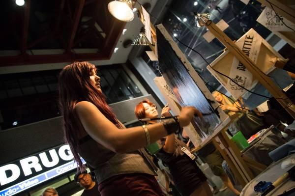 Art Battle Vancouver Woodward' Atrium - Snipe