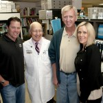Photo of J.T. Snow, Dr. Permutt, Jon Wasson, Stephanie Gebel