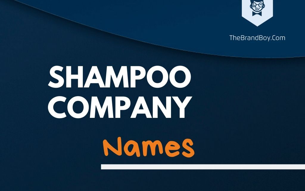 345+ Best Shampoo Company Names Ideas