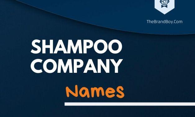 345+ Best Shampoo Company Names Ideas