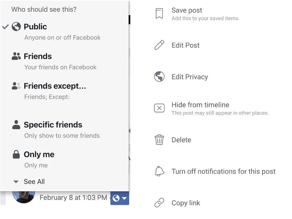 Change your Facebook Audience by editing your privacy settings