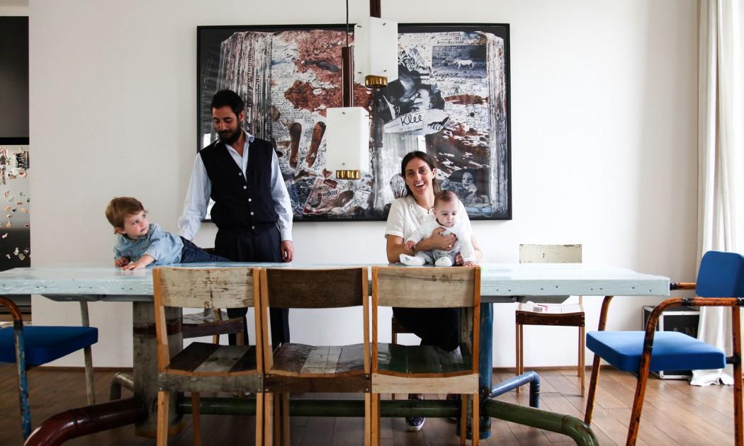 Andrea Brugnoni <br />Isabella Spadacini,<br /> Bartolomeo 2 ans <br /> et Libera 7 mois