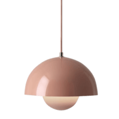 Light Pink Sofa Bed Kidney Shaped Leather Flowerpot Ceiling Lamp Verner Panton - The Socialite ...